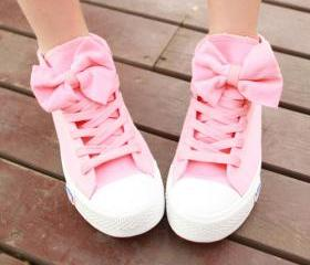 High help Bowknot canvas shoes (wholesale)